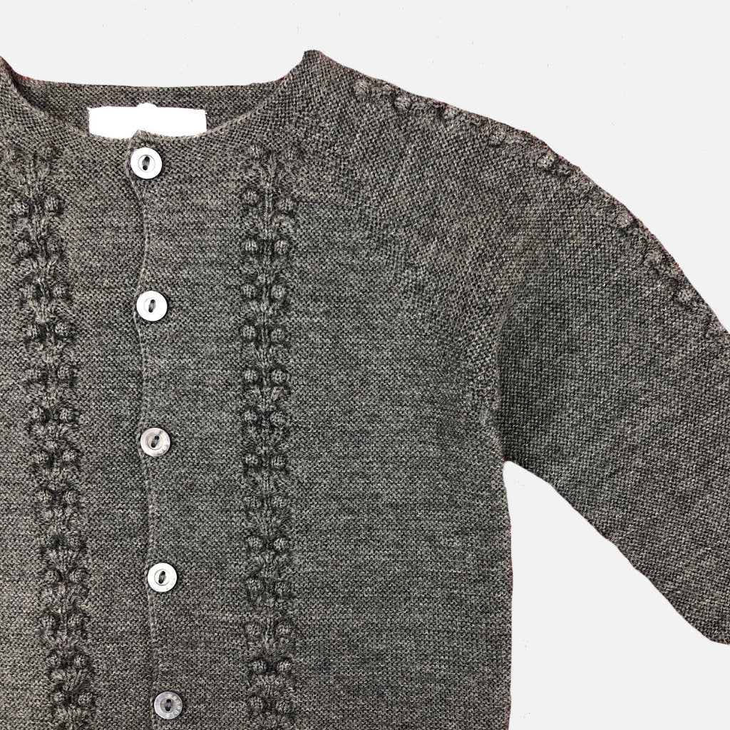Strickjacke Grey Bubble