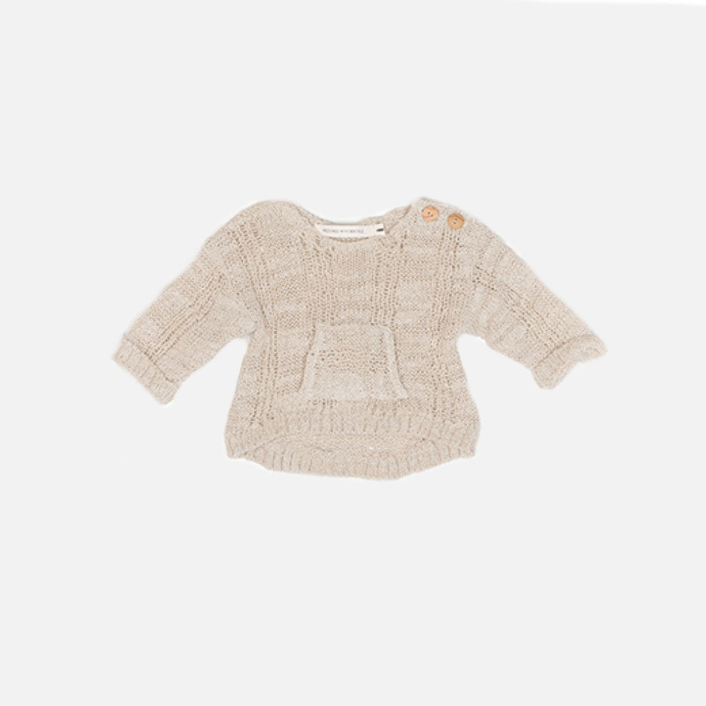 Grob Strick Pullover für Kinder in beige von Message in the Bottle bei Gukys.com
