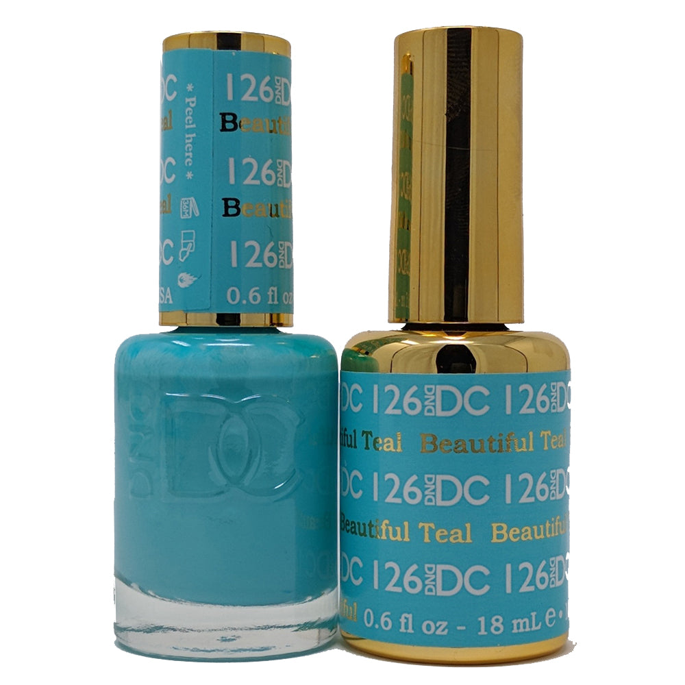 Beautiful Teal-DND Daisy Collection-UK-Wholesaler-Supplier-queenofnailscouk