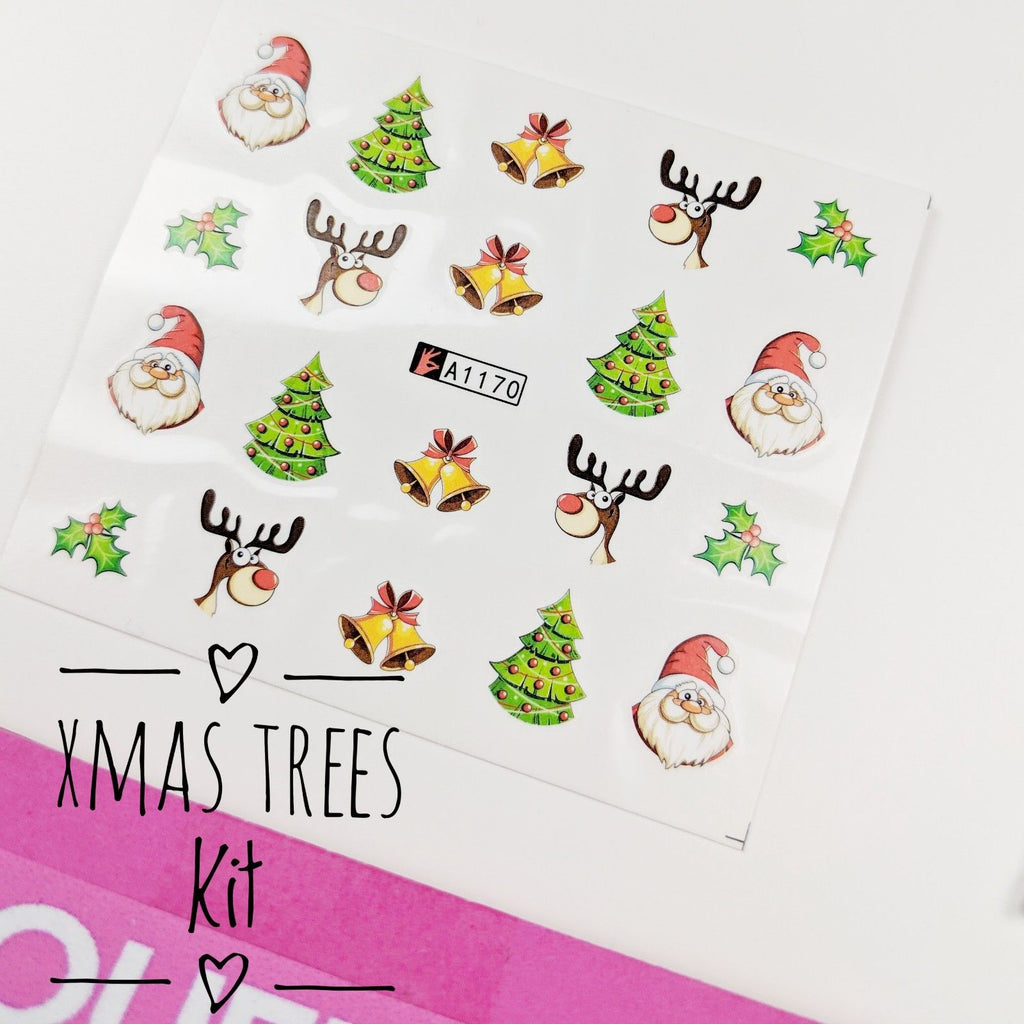 Christmas Tree-Nail Art Kits-UK-Wholesaler-Supplier-queenofnailscouk