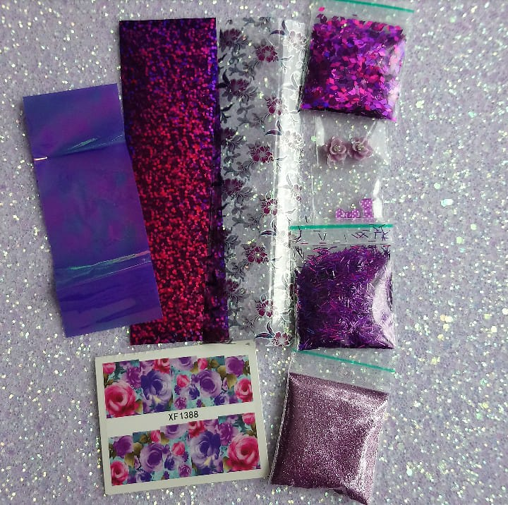 Purple-Nail Art Kits-UK-Wholesaler-Supplier-queenofnailscouk