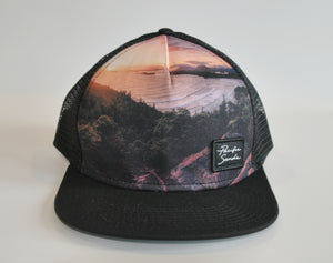Black Graphic Snapback