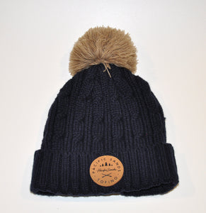 Pacific Sands Navy Pompom Beanie / Toque