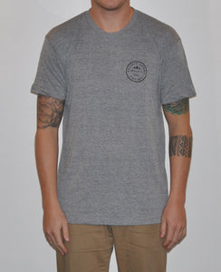 Unisex 'Pacific Sands Logo' Heather Grey T-shirt