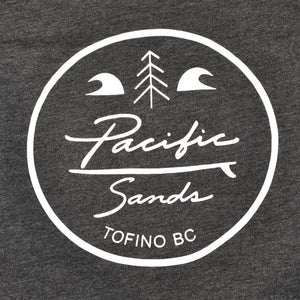 Unisex 'Pacific Sands Front Logo' Heather Black T-shirt