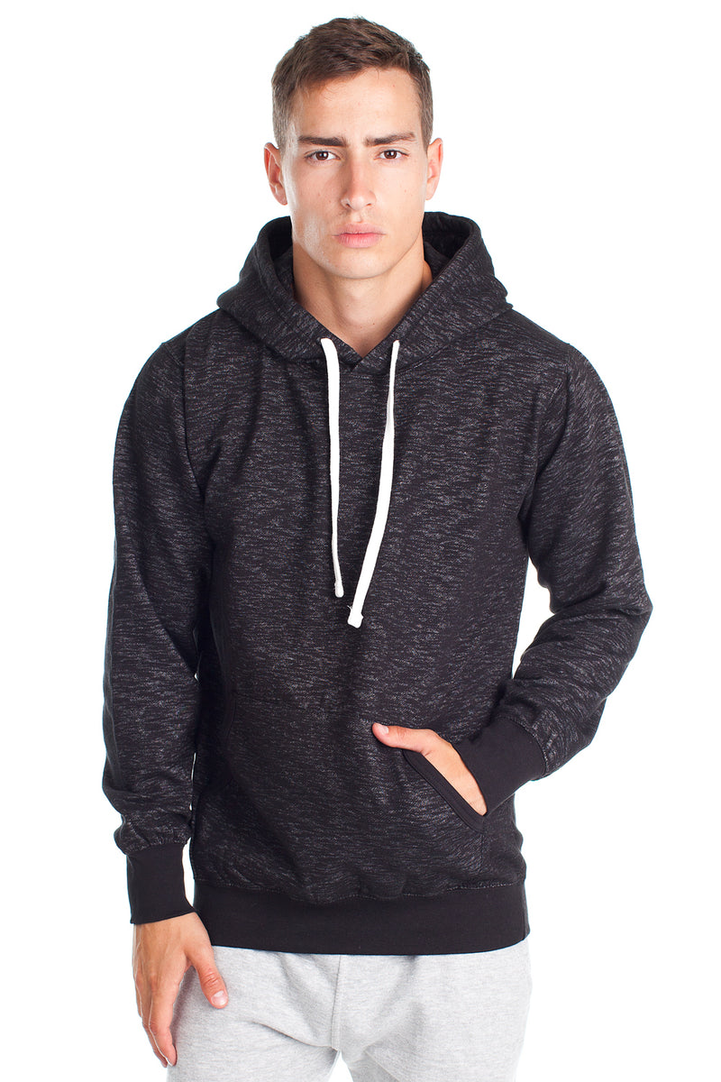 BSD900 - Fleece Factory Black Space Dye Hooded Sweatshirt