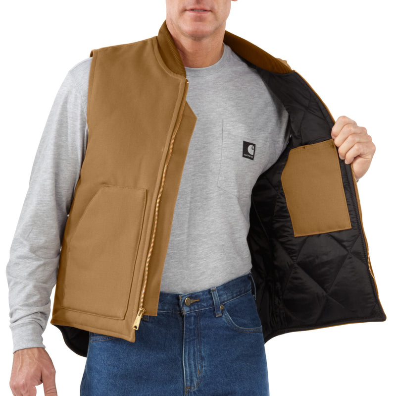 V01 - Carhartt Relaxed Fit Firm Duck Insulated Vest