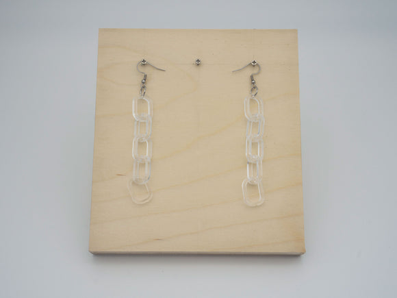 Clear Chain Earrings