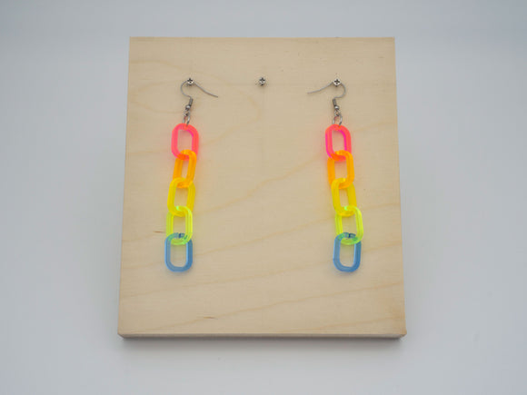 Color Chain Earrings