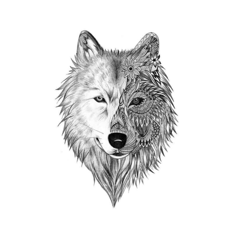 Wolf Temporäre Tattoos Temporary Tattoos Klebetattoos Faketattoos Tattlook