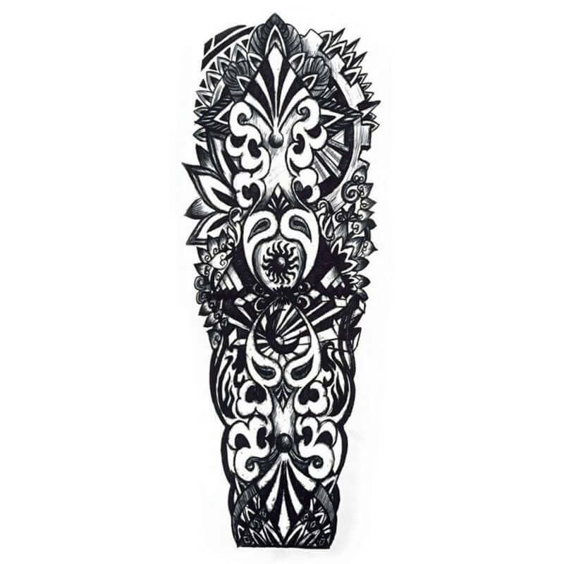 Azteca Sleeve Temporäre Tattoos Temporary Tattoos Klebetattoos Faketattoos Tattlook