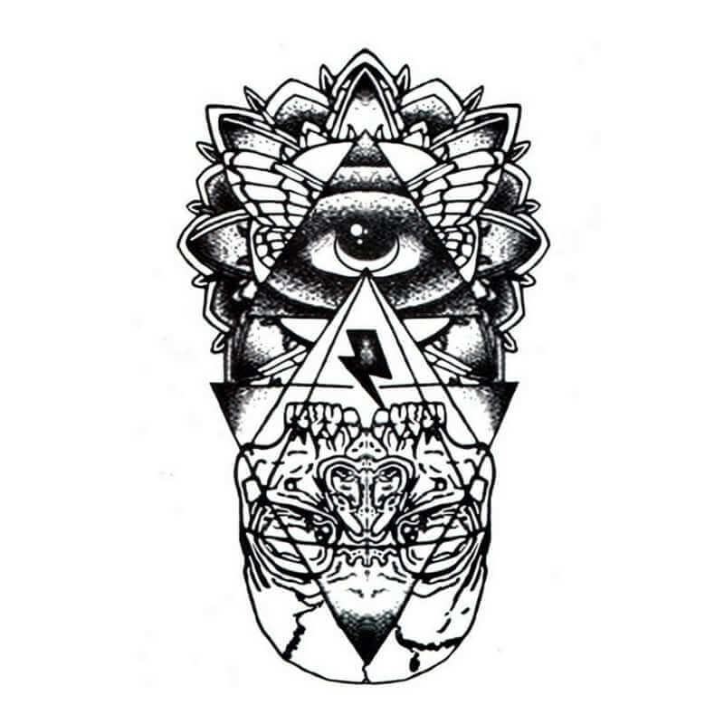 Illuminati Eye Temporäre Tattoos Temporary Tattoos Klebetattoos Faketattoos Tattlook
