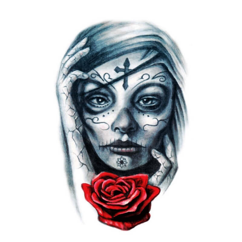 La Catrina Temporäre Tattoos Temporary Tattoos Klebetattoos Faketattoos Tattlook