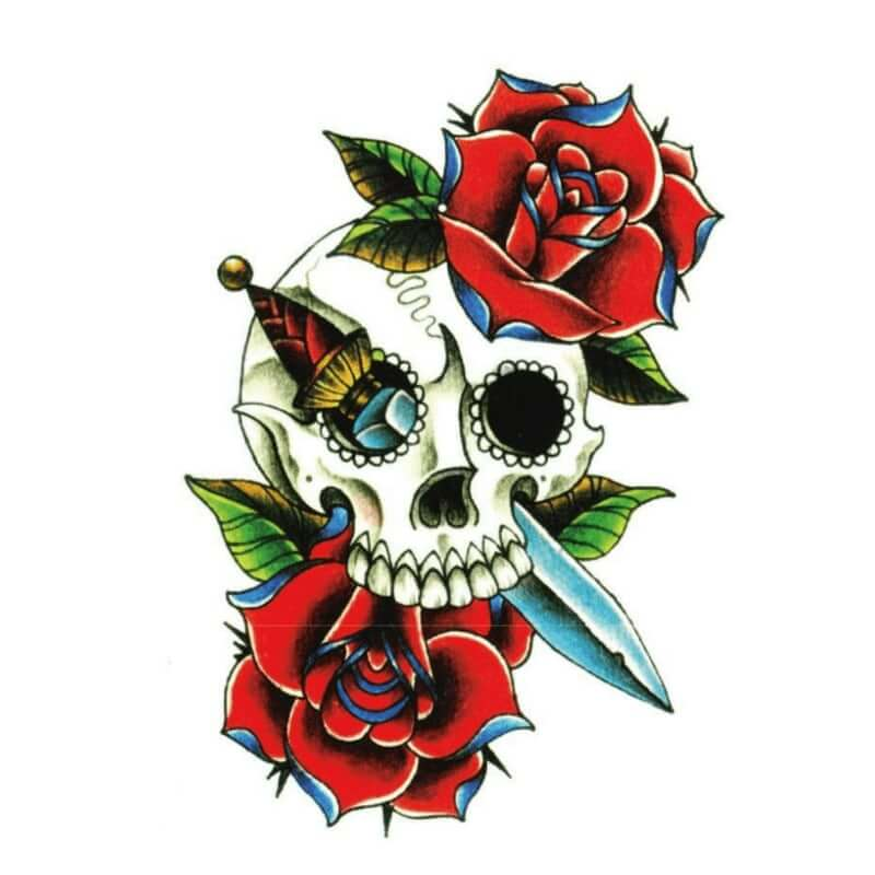Día de los muertos Temporäre Tattoos Temporary Tattoos Klebetattoos Faketattoos Tattlook