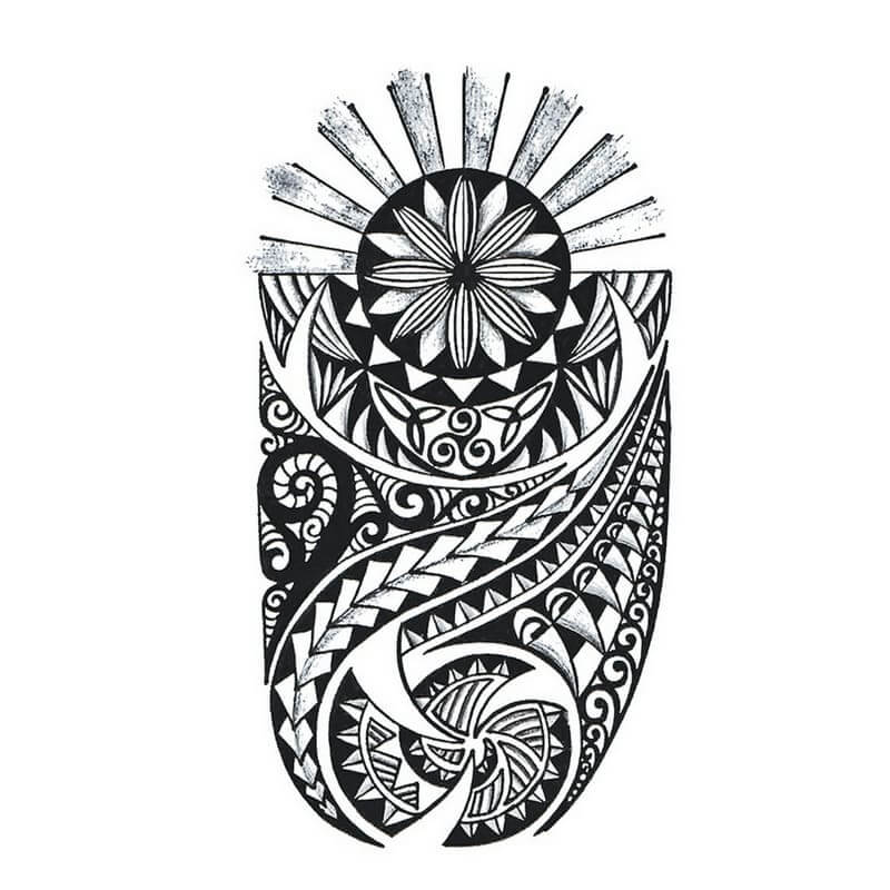 Maori Temporäre Tattoos Temporary Tattoos Klebetattoos Faketattoos Tattlook