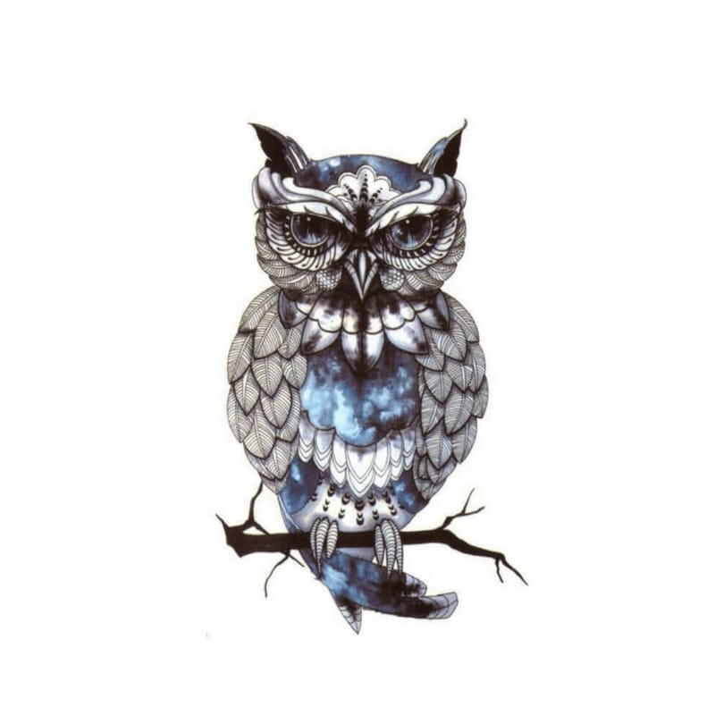 Mystic Owl Temporäre Tattoos Temporary Tattoos Klebetattoos Faketattoos Tattlook