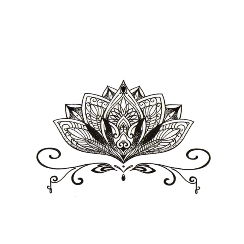 Lotus Temporäre Tattoos Temporary Tattoos Klebetattoos Faketattoos Tattlook