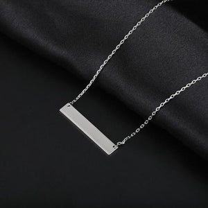 Custom Bar Necklace - Rosetta Sterling