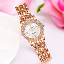 Rose gold diamond fashion luxury women's dress quartz wrist watch
