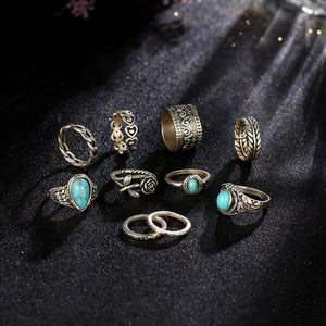 Flower Stone Ring Set - Rosetta Sterling