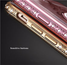 Luxury Diamond Mirror Cases iPhone - Rosetta Sterling