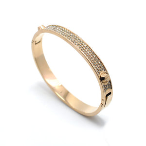 Diamond Studded Bangles - Rosetta Sterling