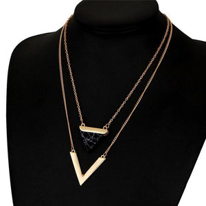 Aubrey Double Layer Necklace - Rosetta Sterling