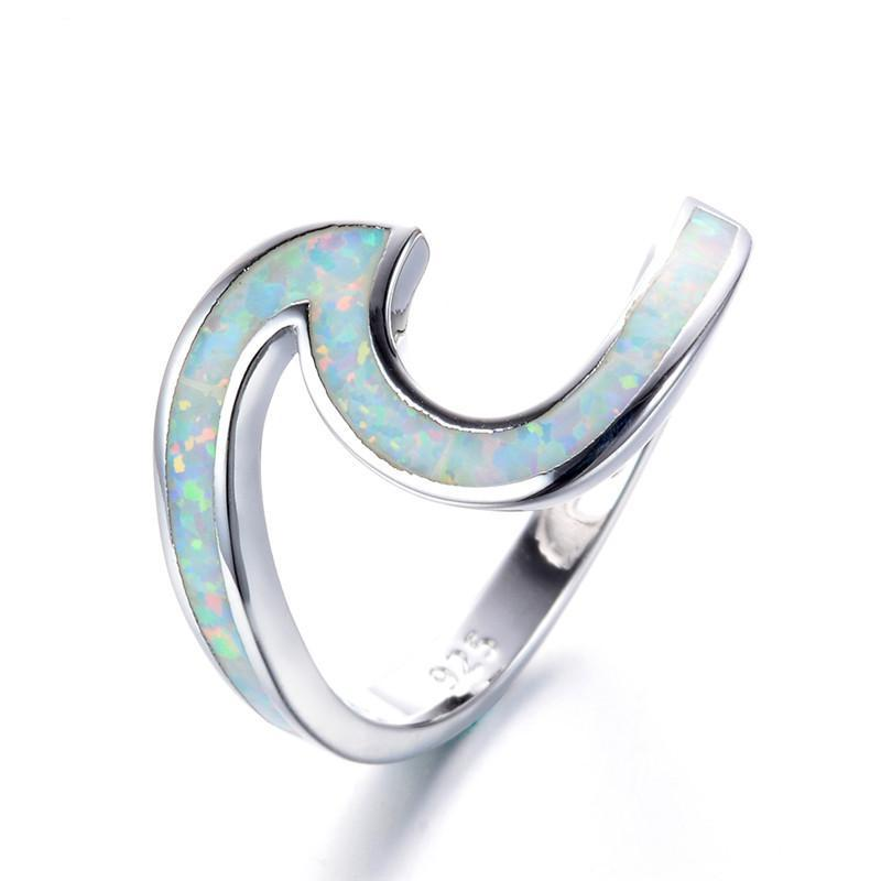 Opal Wave Ring - Rosetta Sterling