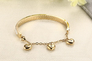 Luxury Charm Bangle - Rosetta Sterling
