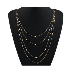Verity Multilayer Necklace - Rosetta Sterling