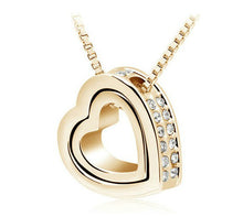 Double Heart Necklace - Rosetta Sterling