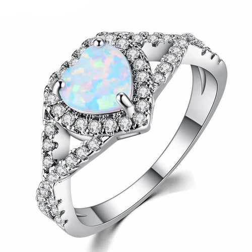 Allegra Opal Ring - Rosetta Sterling