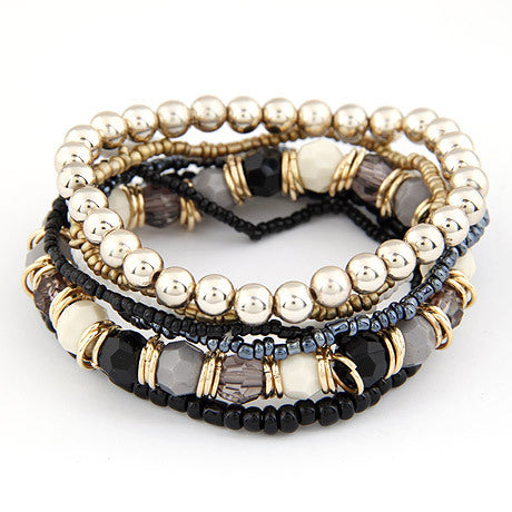 Multilayer Beads Bracelet - Rosetta Sterling