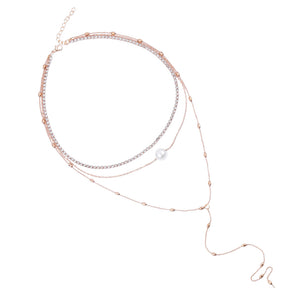 Evianna Layered Necklace - Rosetta Sterling