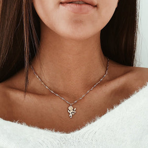 Elena Rose Necklace - Rosetta Sterling