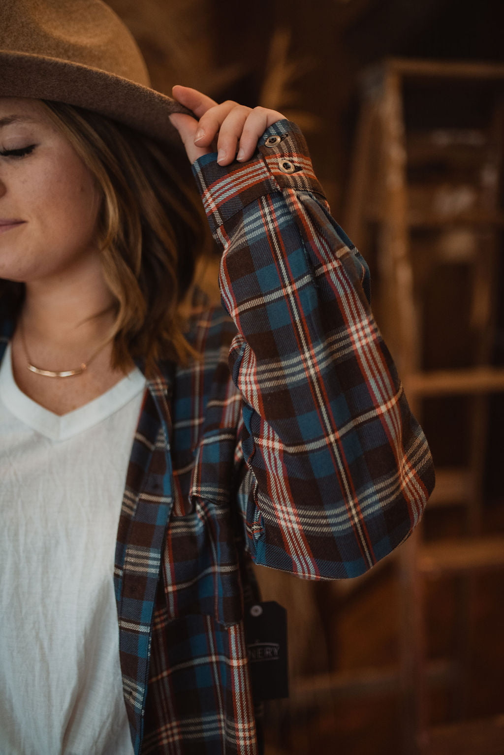 Christa Plaid Flannel Top
