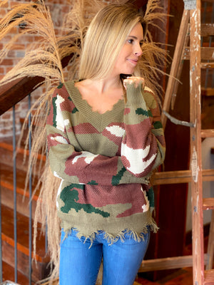 Pallas Camo Sweater
