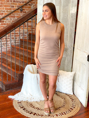 Stop And Stare Ruched Dress
