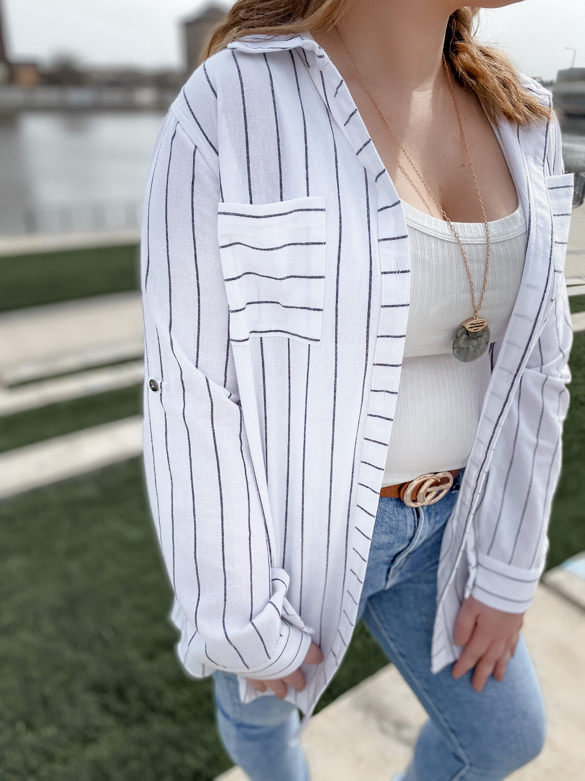 Striped Perfection Button Down