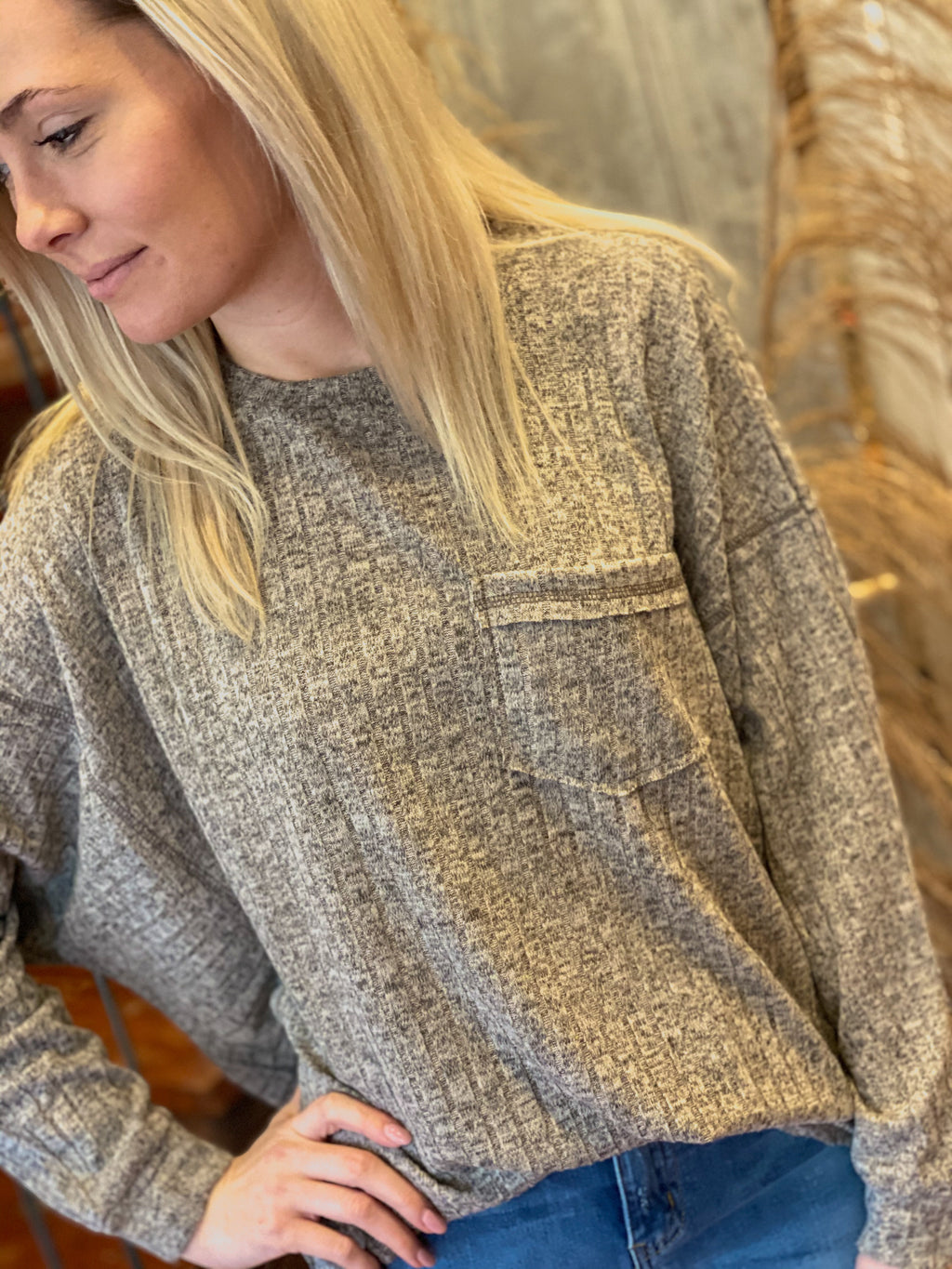 Laid Back Long Sleeve Top