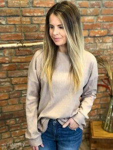 Flynn Back Lace Up Sweater