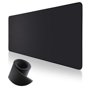 Black Deskmat with Stitched Edges (Custom Size)
