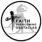 """Faith Overcoming Obstacles"" Sticker"