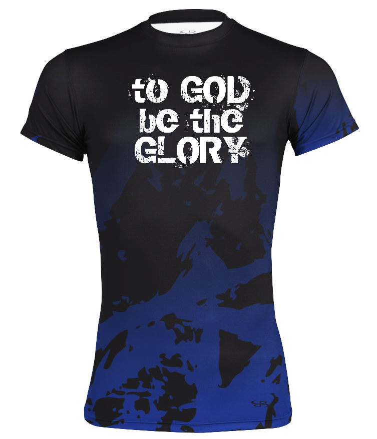 "Kid's Performance Compression ""To God Be The Glory"" Short Sleeve Shirt"