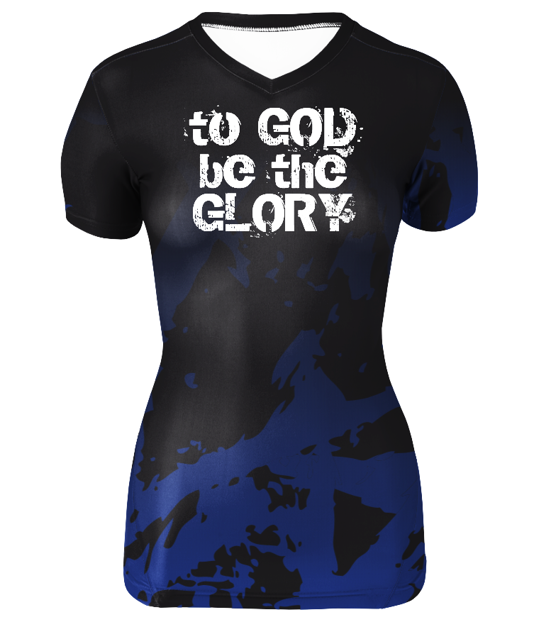 "Women's Performance Compression ""To God Be The Glory"" Short Sleeve Shirt"