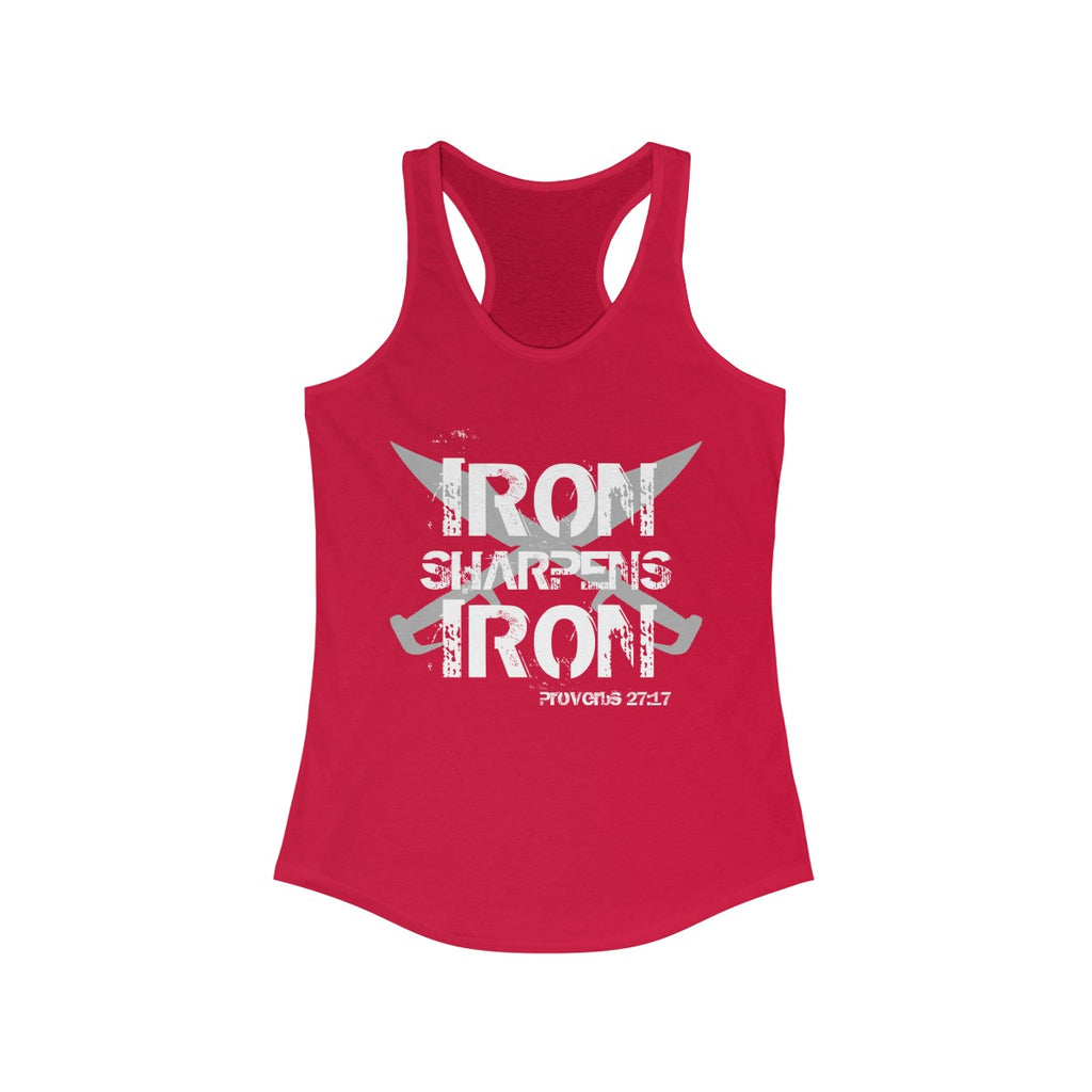 "Women's ""Iron Sharpens Iron"" Racerback Tank"