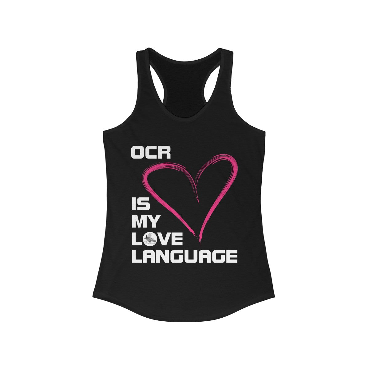 "Women's Ideal ""OCR is My Love Language"" Racerback Tank"