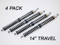 "2.25"" - 14"" Travel (4) Shock & Spring Packages"