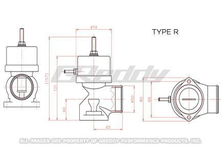 GReddy Type-R Blow-Off Valve with Stiff Spring