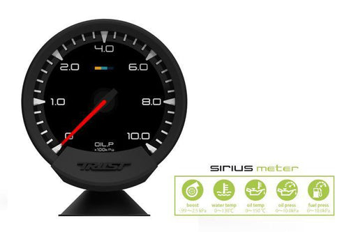 Greddy Sirius Meter - Analog Oil Press Gauge